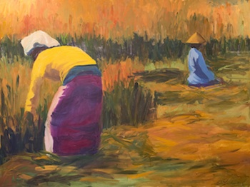 Rhythms & Rituals: The Work of Women – Art by Lori Lander and With the Grain: Works by Mitch Ryerson